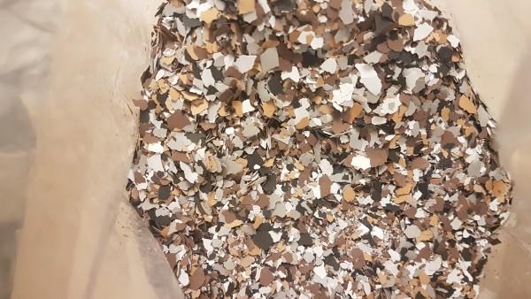 Dekor-Farbchips für Epoxidharz Bodenbeschichtung, Colorchips, Farbmischung 760 g